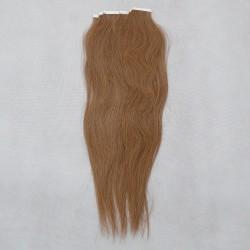 Svetle hnedé vlasy na predĺženie - Tape-in Remy prúžky, 50 cm (012), 20 ks