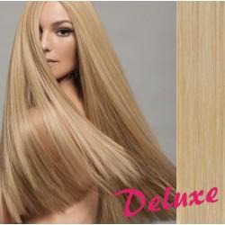 DELUXE prírodné blond CLIP IN vlasy na predĺženie - 60-63 cm