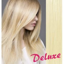 DELUXE najsvetlejšie blond CLIP IN vlasy na predĺženie - 60-63 cm