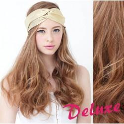 DELUXE svetlo hnedé CLIP IN vlasy, vlnité - 50-53 cm