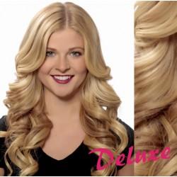 DELUXE prírodné blond CLIP IN vlasy, vlnité - 50-53 cm