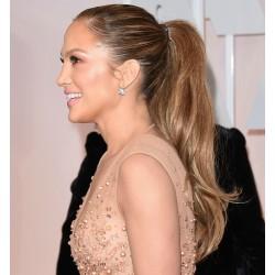 Vlnitý clip-in cop 50 cm, ľudské vlasy - svetlo hnedá