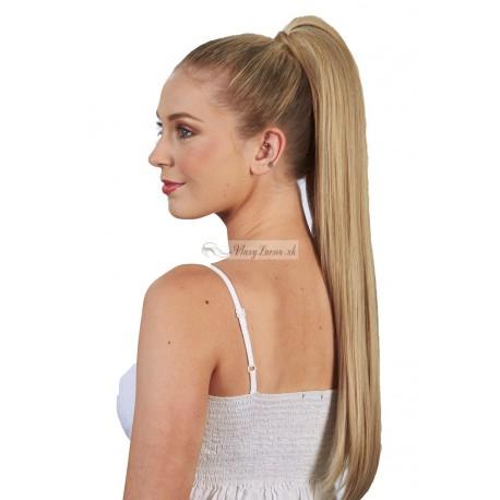 Clip-in cop 60 cm, ľudské vlasy - prírodná blond