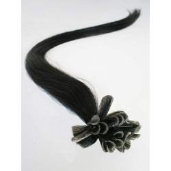 Keratin, 40 cm 0,7g/pr., 50 ks - uhľovo čierna