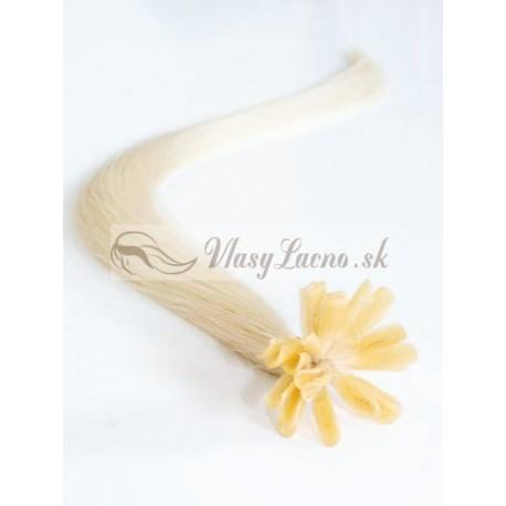 Keratin, 40 cm 0,7g/pr., 50 ks - platinová blond