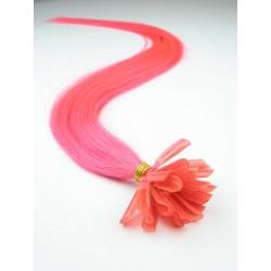 Keratin, 40 cm 0,7g/pr., 50 ks - ružová