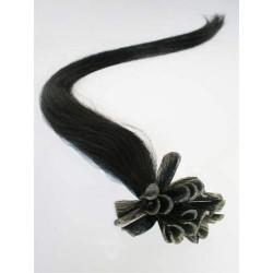 Keratin, 60 cm 0,7g/pr., 50 ks - uhľovo čierna