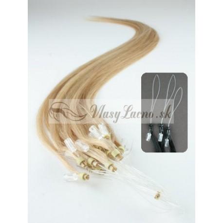 Micro ring, 40 cm 0,7g/pr., 50 ks - prírodná blond