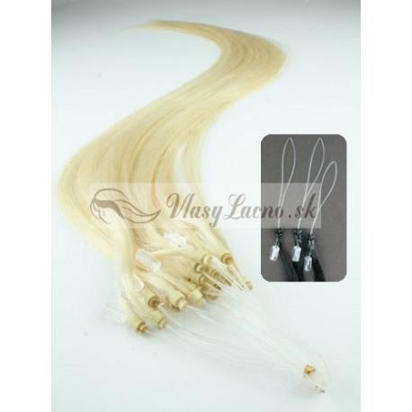 Micro ring, 40 cm 0,7g/pr., 50 ks - najsvetlejšia blond
