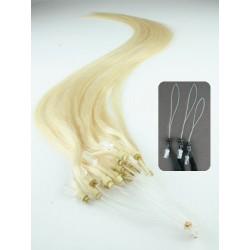 Micro ring, 50 cm 0,7g/pr., 50 ks - najsvetlejšia blond