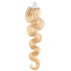 Micro ring, 50 cm 0,5g/pr., 50 ks, vlnité - najsvetlejšia blond