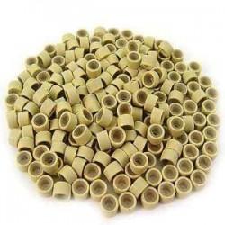 Náhradné ringy / krúžky so silikónom 50ks - blond