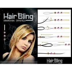 Swarovski kamienky k navlečeniu na prameň vlasov - ružová