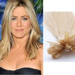 Platinové blond vlasy - keratin, 50 cm, 25 prameňov (060)