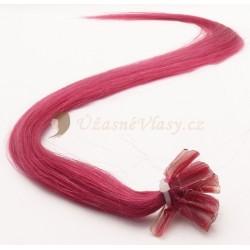 Fuxiové vlasy na predĺženie - keratin, 50 cm, 25 prameňov (Foxi)