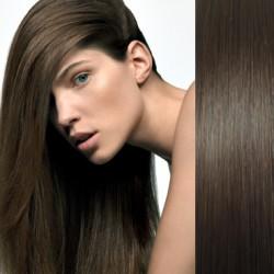 CLIP IN pás 40-43 cm, 100% ľudské vlasy - najtmavšie hnedá