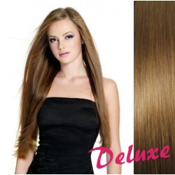 DELUXE svetlo hnedé CLIP IN vlasy na predĺženie - 70-73 cm