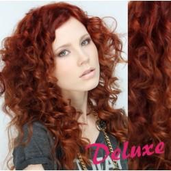 DELUXE medené CLIP IN vlasy, kučeravé - 50-53 cm
