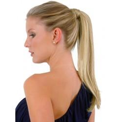 Clip-in cop 50 cm, ľudské vlasy - platina / svetlo hnedá