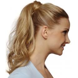 Vlnitý clip-in cop 50 cm, ľudské vlasy - prírodná / svetlejšia blond