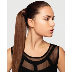 Clip-in cop 60 cm, ľudské vlasy - stredne hnedá
