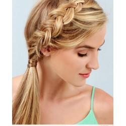 Clip-in cop 60 cm, ľudské vlasy - prírodná / svetlejšia blond