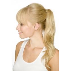 Vlnitý clip-in cop 60 cm, ľudské vlasy - najsvetlejšie blond