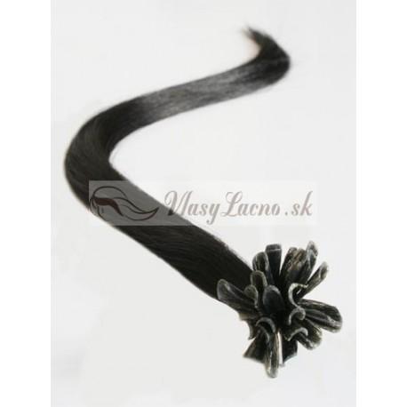 Keratin, 50 cm 0,7g/pr., 50 ks - prírodná čierna