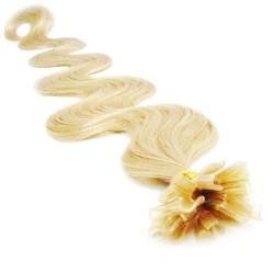 Keratin, 50 cm 0,7g/pr., 50 ks, vlnité - najsvetlejšia blond