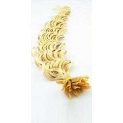 Keratin, 50 cm 0,7g/pr., 50 ks, kučeravé - najsvetlejšia blond