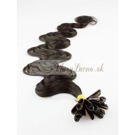 Keratin, 60 cm 0,5g/pr., 50 ks, vlnité - prírodná čierna