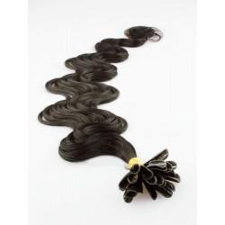Keratin, 60 cm 0,7g/pr., 50 ks, vlnité - prírodná čierna