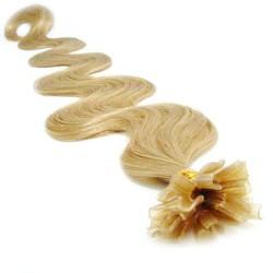 Keratin, 60 cm 0,7g/pr., 50 ks, vlnité - prírodná blond