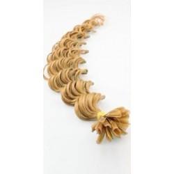 Keratin, 60 cm 0,7g/pr., 50 ks, kučeravé - prírodná blond