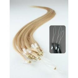 Micro ring, 60 cm 0,5g/pr., 50 ks - prírodná blond