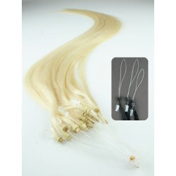Micro ring, 60 cm 0,7g/pr., 50 ks - najsvetlejšia blond