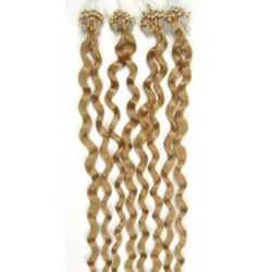 Micro ring, 60 cm 0,5g/pr., 50 ks, kučeravé - prírodná blond