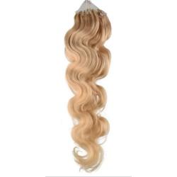 Micro ring, 60 cm 0,7g/pr., 50 ks, vlnité - prírodná blond